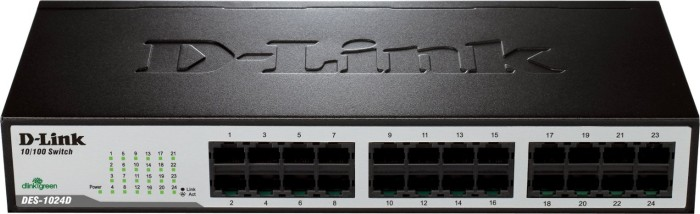 D-Link DES-10 Desktop switch, 24x RJ-45 (DES-1024D)