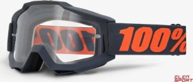 100% Accuri Goggle gunmetal/clear lens (50200-025-02)