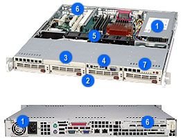 Supermicro 813MT-300C light grey, 1U, 300W