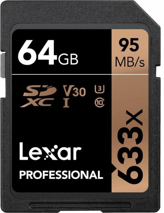 Lexar Professional 633x R95/W45 SDXC 64GB, UHS-I U3, Class 10 (LSD64GCBEU633)