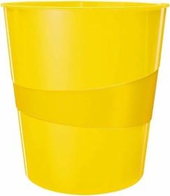 Leitz WOW Papierkorb rund, gelb (52781016)