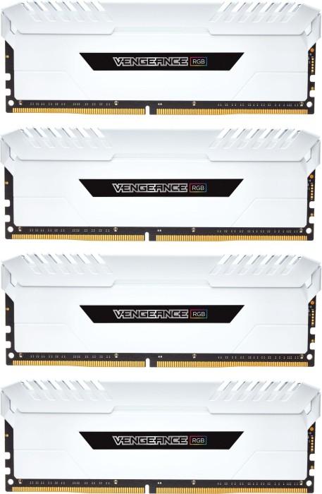 Corsair Vengeance RGB weiß DIMM Kit 32GB, DDR4-3000, CL16-20-20-38 (CMR32GX4M4D3000C16W)