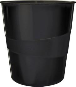 Leitz WOW Papierkorb rund, schwarz (52781095)