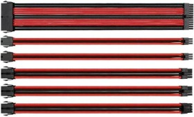 Thermaltake TtMod sleeve cable extension 30cm, black/red (AC-033-CN1NAN-A1)