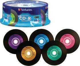 Verbatim Azo Data vinyl color CD-R 80min/700MB 52x, 25er Spindle (94488)