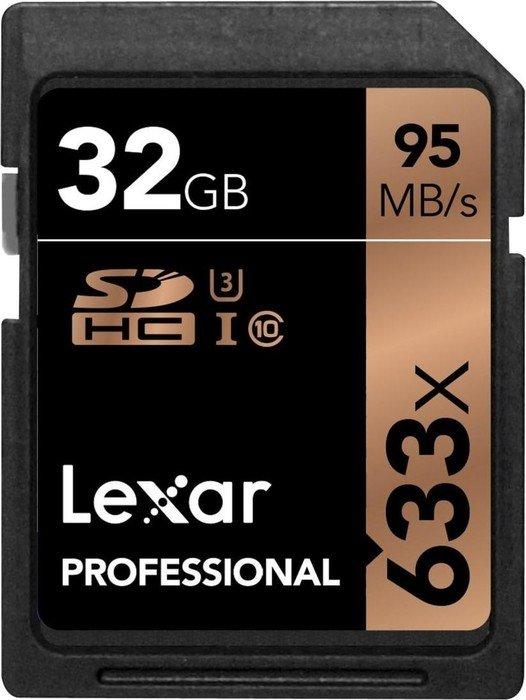 Lexar Professional 633x R95/W45 SDHC 32GB, UHS-I U3, Class 10 (LSD32GCBEU633)