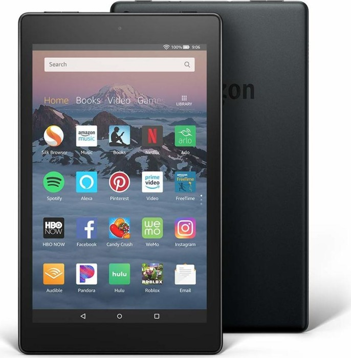 Amazon Fire HD 8 KFKAWI 2018, with Advertising, 16GB, black (53-007583)