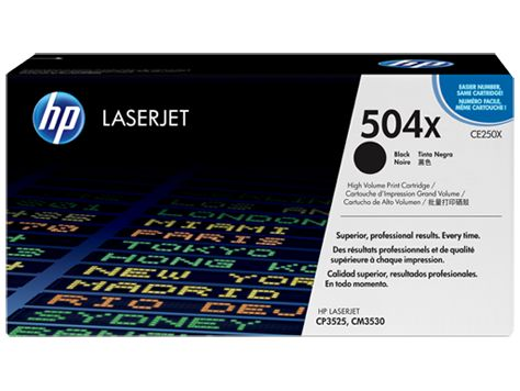 HP Toner 504X black high capacity (CE250X)