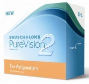 Bausch&Lomb PureVision 2 HD for Astigmatism, +0.00 Dioptrien, 6er-Pack