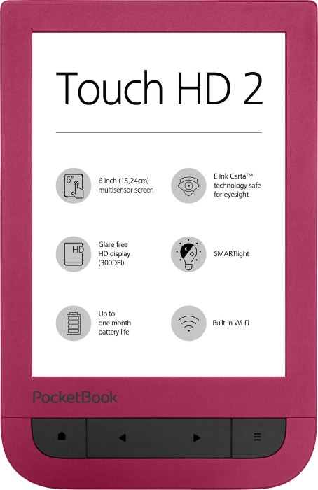 pocketbook touch hd 2 red pb631 2 r ww skinflint price