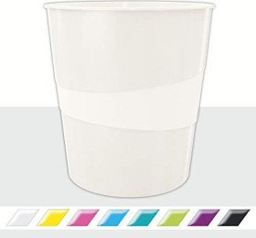 Leitz WOW Papierkorb rund, weiß (52781001)