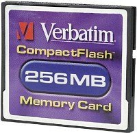 Verbatim CompactFlash Card (CF)  256MB (47008)