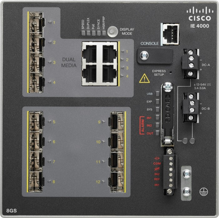 Cisco IE 4000 LAN Base Industrial Railmount Gigabit Managed