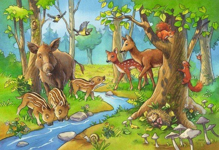 Ravensburger Puzzle Tiere des Waldes (09117)