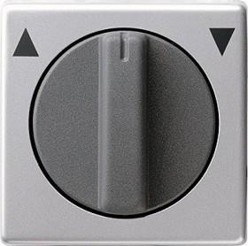Gira Abdeckung mit Knebel für Jalousieschalter, aluminium (0666 203)