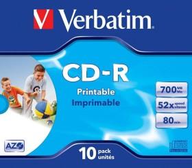 Verbatim Azo CD-R 80min/700MB 52x, 10er Jewelcase printable (43325)