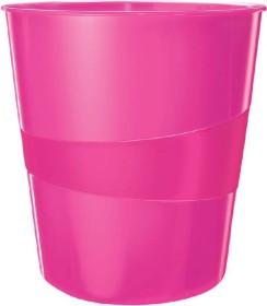Leitz WOW Papierkorb rund, pink (52781023)
