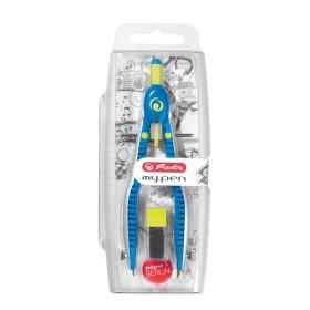 Herlitz my.pen Schnellverstellzirkel, blau/lemon (11122330)