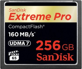 SanDisk R160/W140 CompactFlash Card [CF] Extreme PRO 256GB (SDCFXPS-256G-X46)