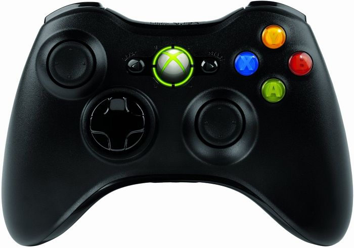 Microsoft Xbox 360 X360 kontroler Wireless do Windows, czarny (PC/Xbox 360) (JR9-00007/JR9-00010)