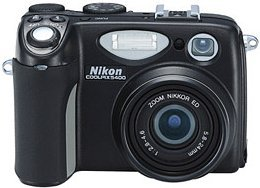 Nikon Coolpix 5400, w tym 2GB Microdrive