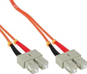 InLine LWL Duplex Kabel, OM1, 2x SC Stecker/2x SC Stecker, 7.5m (83675)