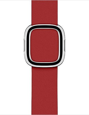 Apple modernes Lederarmband Large für Apple Watch 40mm rot (MTQV2ZM/A)