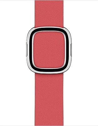 Apple modernes Lederarmband Large für Apple Watch 40mm pink (MTQR2ZM/A)