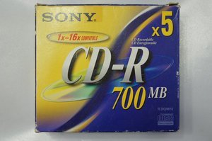 Sony CD-R 80min/700MB, 5er-Pack -- © bepixelung.org