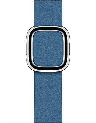 Apple modernes Lederarmband Medium für Apple Watch 40mm blau (MTQM2ZM/A)
