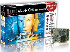 Guillemot / Hercules 3D Prophet All-In-Wonder Radeon 9000 Pro, 64MB DDR, DVI, TV-out, TV-Tuner, AGP, Retail (4780280)