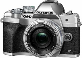 Olympus OM-D E-M10 Mark IV silver with lens M.Zuiko digital 14-42mm EZ (V207132SE000)