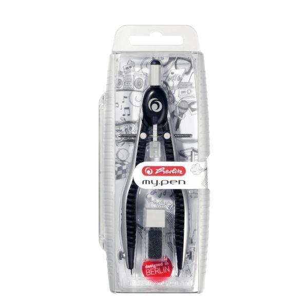 Herlitz my.pen Schnellverstellzirkel, schwarz/grau (11122322)