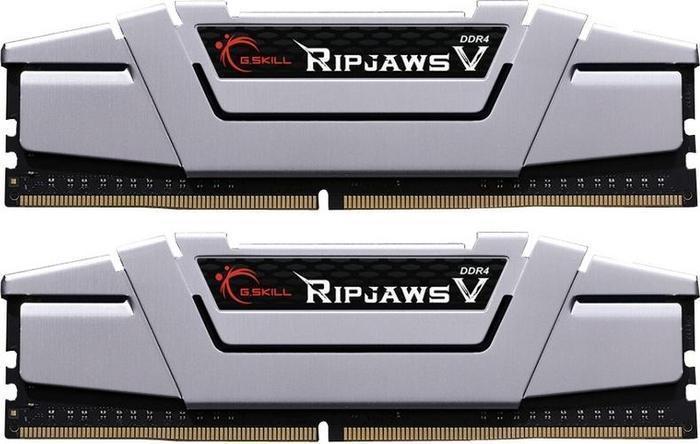 G.Skill RipJaws V silver DIMM kit 16GB, DDR4-3000, CL15-15-15-35 (F4-3000C15D-16GVS)