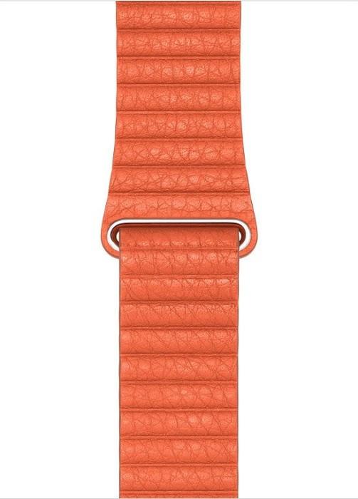Apple Lederarmband mit Schlaufe Medium für Apple Watch 44mm orange (MV602ZM/A)
