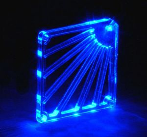 Various Crystal Fan grill blue/LED fan grill acrylic blue