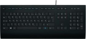 Logitech Corded Keyboard for Business K280e, schwarz, USB, DE (920-008669)
