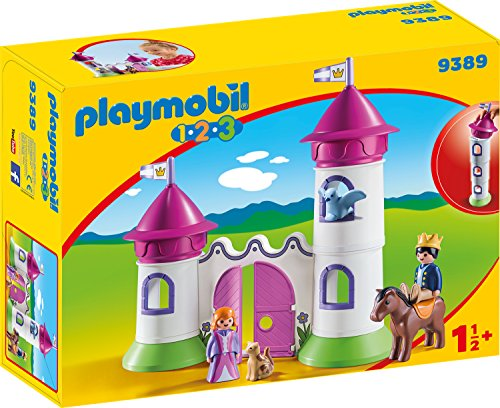 playmobil 1.2.3 - Schlösschen mit Stapelturm (9389) -- via Amazon Partnerprogramm