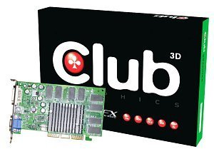 Club 3D GeForceFX 5200, 256MB DDR, DVI, TV-out, AGP (CGN-346TVD)