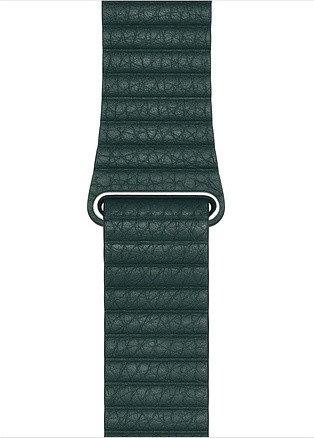 Apple Lederarmband mit Schlaufe Large für Apple Watch 44mm grün (MTH82ZM/A)