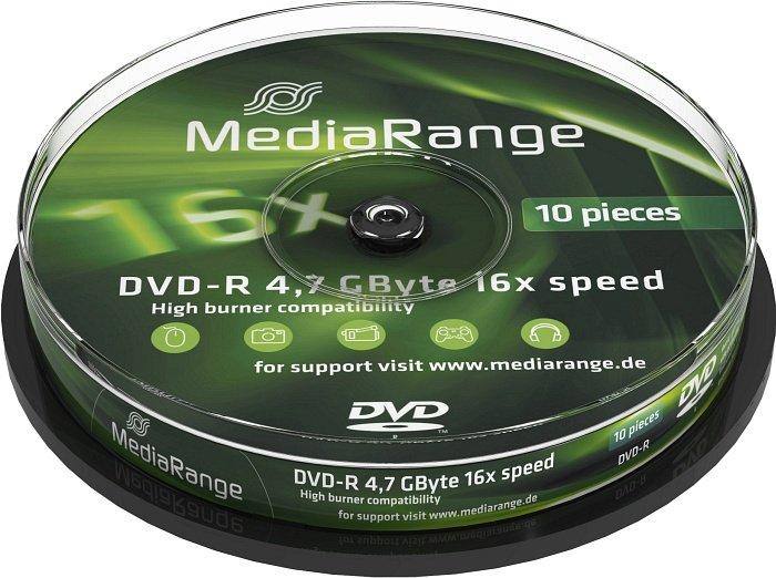 MediaRange DVD-R 4.7GB 16x, 10-pack Spindle (MR452)