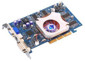 Albatron Ti4280, GeForce4 Ti4200 8X, 64MB DDR, DVI, TV-out, AGP