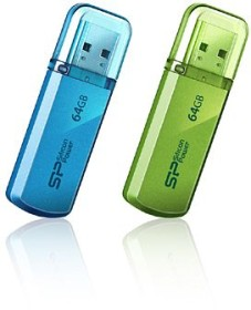 Silicon Power Helios 101 grün 64GB, USB-A 2.0 (SP064GBUF2101V1N)