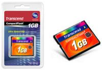 Transcend CompactFlash Card [CF] 133x 1GB (TS1GCF133)