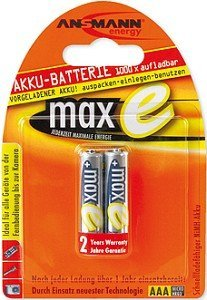 Ansmann maxe Micro AAA NiMH rechargeable battery 800mAh, 2-pack (5030982)