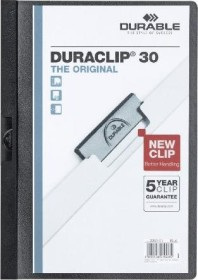 Durable Duraclip 30 Klemm-Mappe A4, schwarz, 25er-Pack (220001#25)