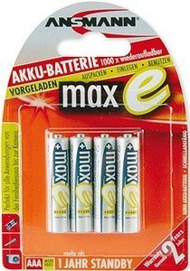 Ansmann maxe Micro AAA NiMH rechargeable battery 800mAh, 4-pack (5035042)