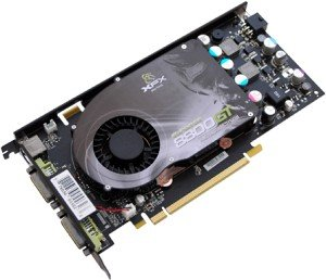 XFX GeForce 8800 GT 625M,  512MB DDR3, 2x DVI, TV-out, PCIe 2.0 (PV-T88P-YHQ4)