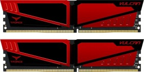 TeamGroup T-Force Vulcan Red DIMM Kit 16GB, DDR4-3000, CL16 (TLRED416G3000HC16CDC01)
