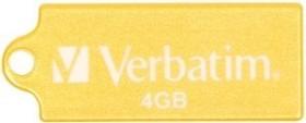Verbatim Store 'n' Go Micro gelb 4GB, USB-A 2.0 (47417)